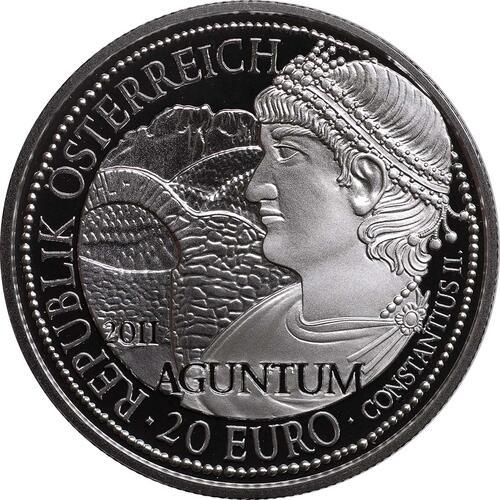 Rückseite:Österreich : 20 Euro Aguntum  2011 PP