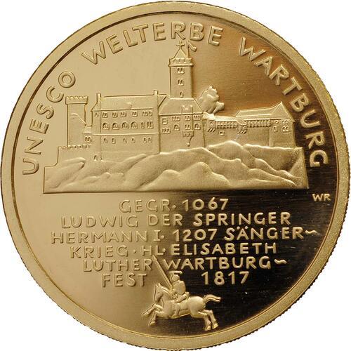 Vorderseite :Deutschland : 100 Euro Wartburg bei Eisenach Buchstabe unserer Wahl  2011 Stgl.