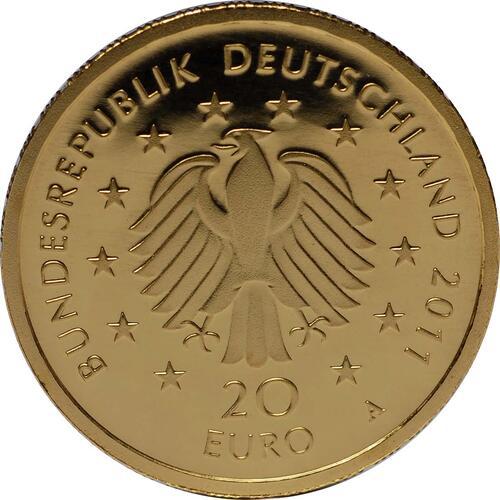 Rückseite:Deutschland : 20 Euro Buche  2011 Stgl.