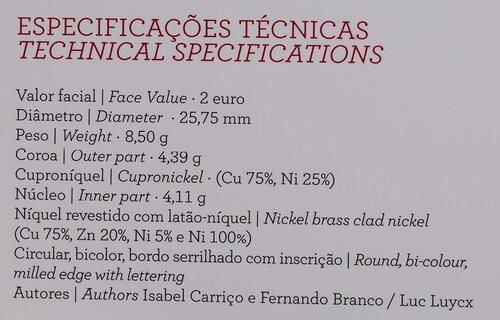 Zertifikat :Portugal : 2 Euro 500. Geburtstag von Fernao Mendes Pinto  2011 PP