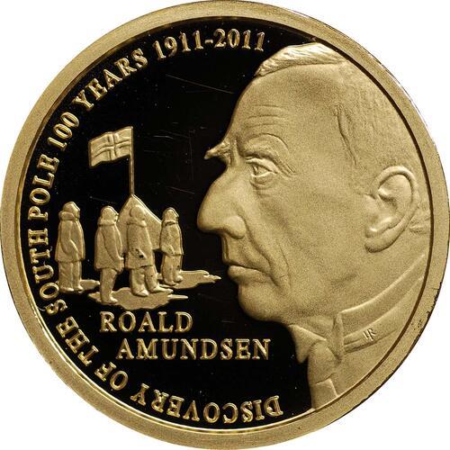 Vorderseite:Belgien : 50 Euro Amundsen Entdeckung des Südpols in Zusammenarbeit mit Norwegen  2011 PP