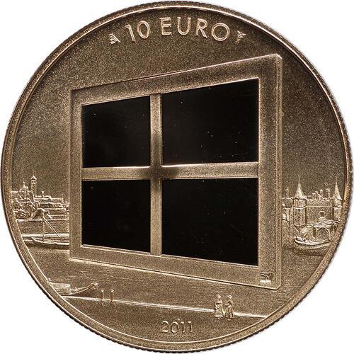 Vorderseite:Niederlande : 10 Euro Niederlande und die Malkunst  2011 PP