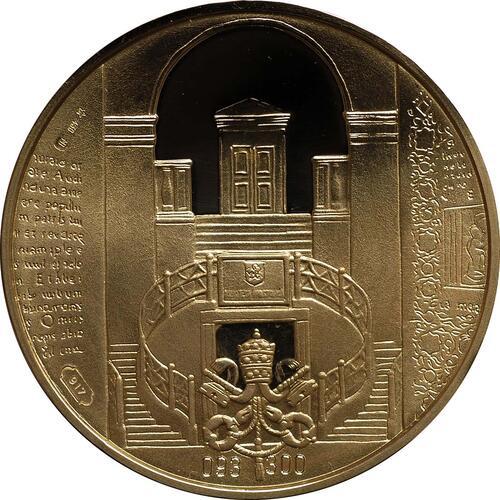 Rückseite:Vatikan : 3,88 Euro original Kursmünzensatz aus dem Vatikan mit Goldmedaille  2011 PP