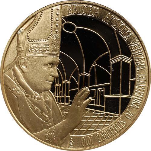 Vorderseite:Vatikan : 3,88 Euro original Kursmünzensatz aus dem Vatikan mit Goldmedaille  2011 PP