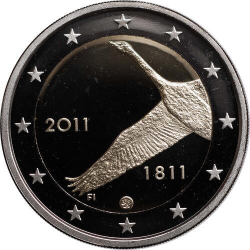 Rückseite:Finnland : 2 Euro 200 Jahre finnische Bank  2011 PP