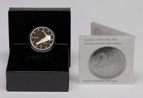 Lieferumfang :Finnland : 2 Euro 200 Jahre finnische Bank  2011 PP