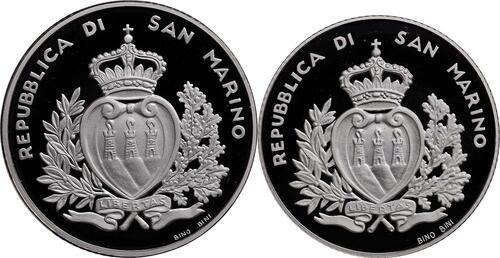 Rückseite:San Marino : 15 Euro Set aus 5 Euro Entdecker, 10 Euro 10 Jahre Euro  2011 PP