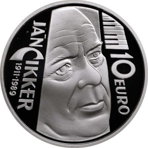 Rückseite:Slowakei : 10 Euro Jan Cikker  2011 PP