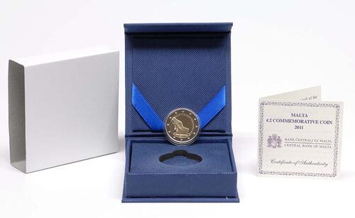 Lieferumfang :Malta : 2 Euro Wahl der ersten Abgeordneten 1849  2011 PP