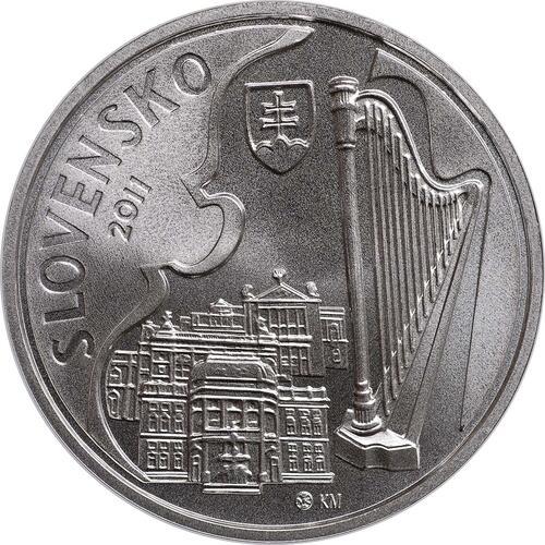 Rückseite:Slowakei : 10 Euro Jan Cikker  2011 Stgl.