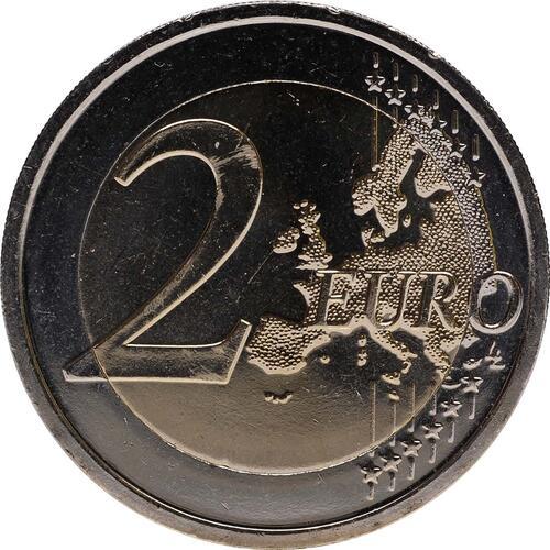 Vorderseite :Slowakei : 2 Euro 10 Jahre Euro Bargeld  2012 bfr