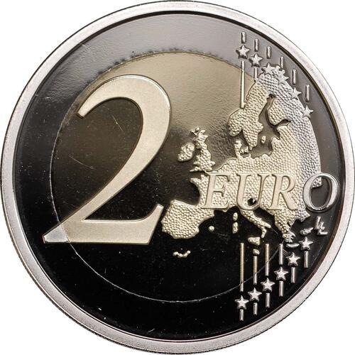 Vorderseite :Frankreich : 2 Euro 10 Jahre Euro Bargeld  2012 PP