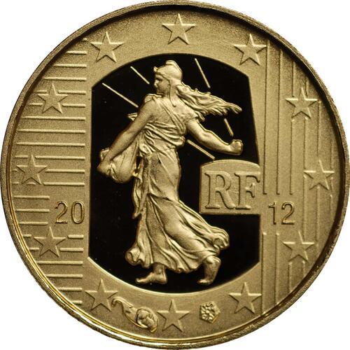 Rückseite:Frankreich : 5 Euro 10 Jahre Euro Bargeld  2012 PP