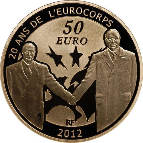 Vorderseite:Frankreich : 50 Euro 20 Jahre Eurokorps  2012 PP