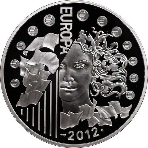 Rückseite:Frankreich : 10 Euro 20 Jahre Eurokorps  2012 PP