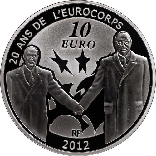 Vorderseite:Frankreich : 10 Euro 20 Jahre Eurokorps  2012 PP