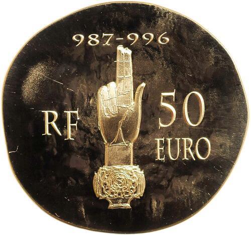 Vorderseite:Frankreich : 50 Euro Hugues Capet  2012 PP