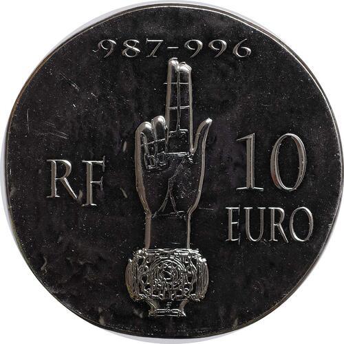 Vorderseite:Frankreich : 10 Euro Hugues Capet  2012 Stgl.