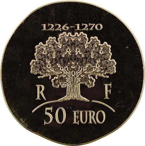 Rückseite:Frankreich : 50 Euro Saint Louis IX  2012 Stgl.