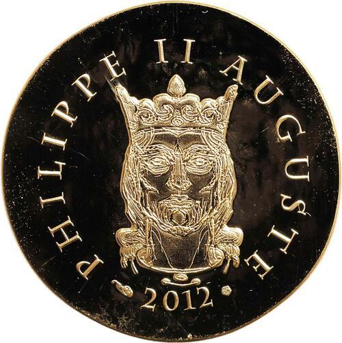 Rückseite:Frankreich : 50 Euro Philipp II. August  2012 Stgl.