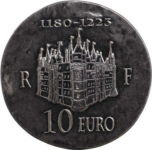 Vorderseite:Frankreich : 10 Euro Philipp II. August  2012 Stgl.