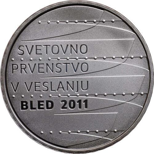 Vorderseite:Slowenien : 30 Euro Ruder Weltmeisterschaft in Bled  2011 PP