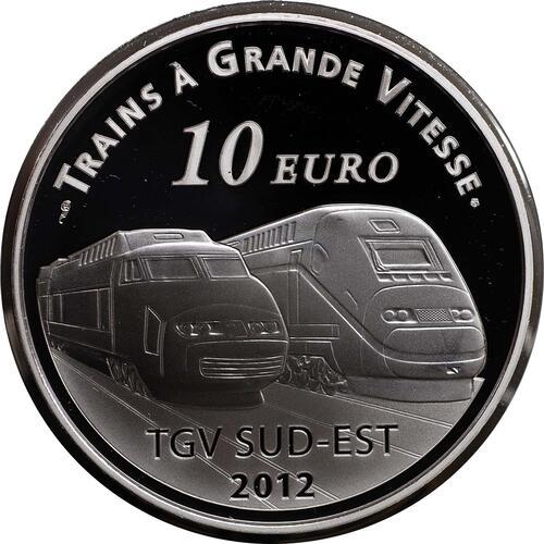 Vorderseite:Frankreich : 10 Euro Lyon St. Exupery  2012 PP
