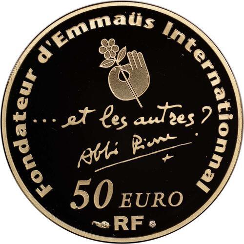 Rückseite:Frankreich : 50 Euro Abbé Pierre  2012 PP