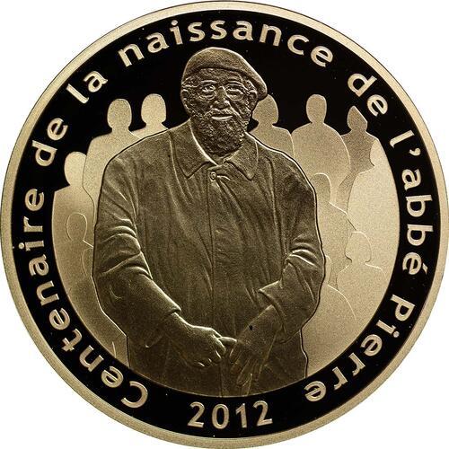 Vorderseite:Frankreich : 50 Euro Abbé Pierre  2012 PP