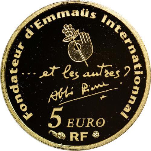 Rückseite:Frankreich : 5 Euro Abbé Pierre  2012 PP