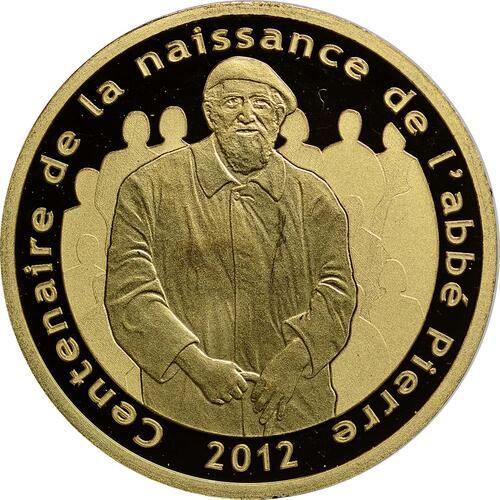 Vorderseite:Frankreich : 5 Euro Abbé Pierre  2012 PP