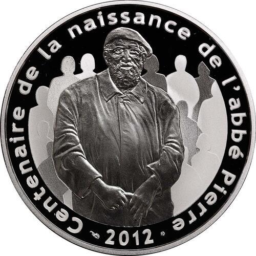 Vorderseite:Frankreich : 10 Euro Abbé Pierre  2012 PP