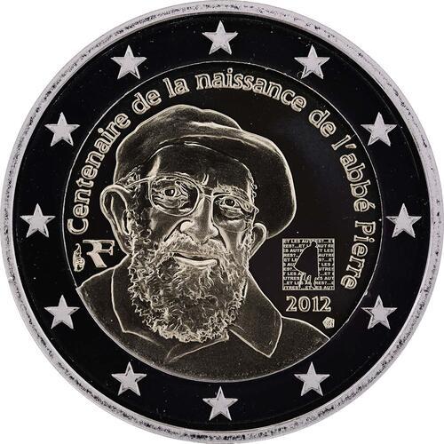 Rückseite:Frankreich : 2 Euro Abbé Pierre  2012 PP