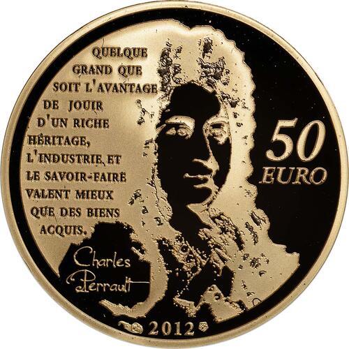 R�ckseite :Frankreich : 50 Euro Gestiefelter Kater  2012 PP