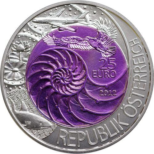 Vorderseite:Österreich : 25 Euro Bionik  2012 Stgl.