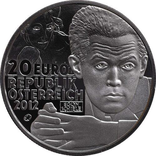 Rückseite:Österreich : 20 Euro Egon Schiele  2012 PP