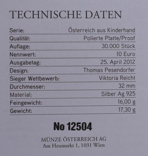 Zertifikat:Österreich : 10 Euro Steiermark  2012 PP