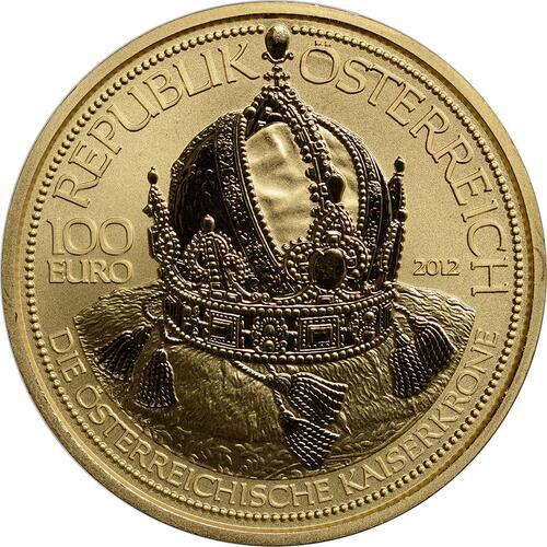Rückseite:Österreich : 100 Euro Die Österreichische Kaiserkrone  2012 PP