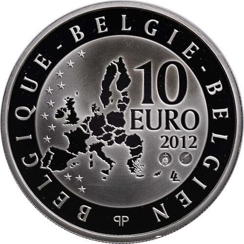 Rückseite:Belgien : 10 Euro Paul Delvaux  2012 PP