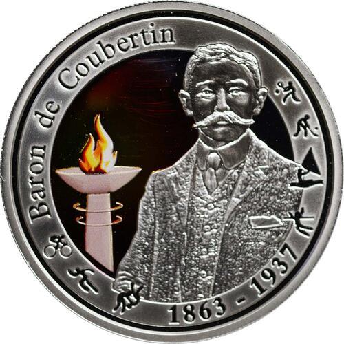 Vorderseite:Belgien : 10 Euro De Coubertin  2012 PP