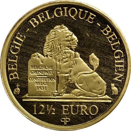 Rückseite:Belgien : 12,5 Euro Königin Paola  2012 PP