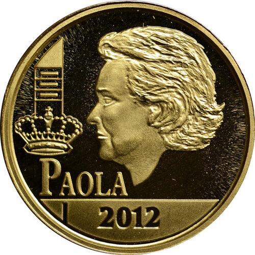 Vorderseite:Belgien : 12,5 Euro Königin Paola  2012 PP