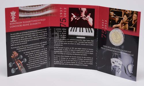 Lieferumfang :Belgien : 2 Euro 75 J. Königin-Elisabeth Internationaler Musikwettbewerb  2012 Stgl.