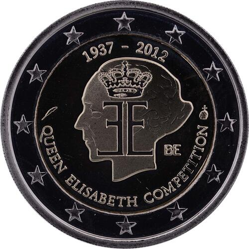 Rückseite:Belgien : 2 Euro 75 J. Königin-Elisabeth Internationaler Musik Wettbewerb  2012 PP