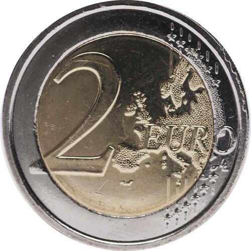 Vorderseite:Belgien : 2 Euro 10 Jahre Euro Bargeld  2012 bfr