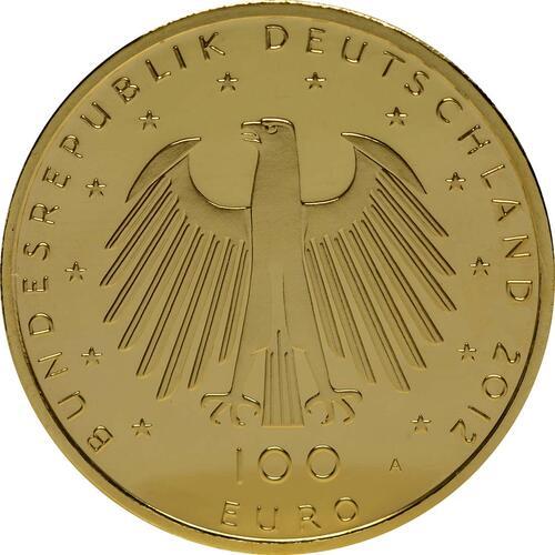 Rückseite:Deutschland : 100 Euro Aachener Dom  2012 Stgl.