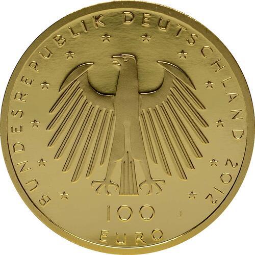 Rückseite :Deutschland : 100 Euro Aachener Dom Komplettset A,D,F,G,J 5 Münzen  2012 Stgl.