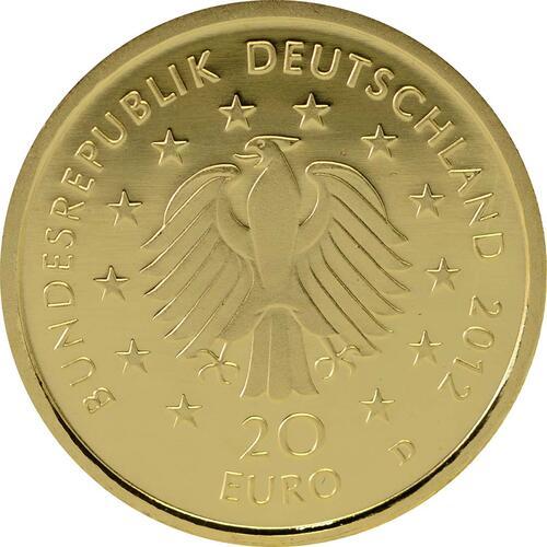 Rückseite:Deutschland : 20 Euro Fichte  2012 Stgl.
