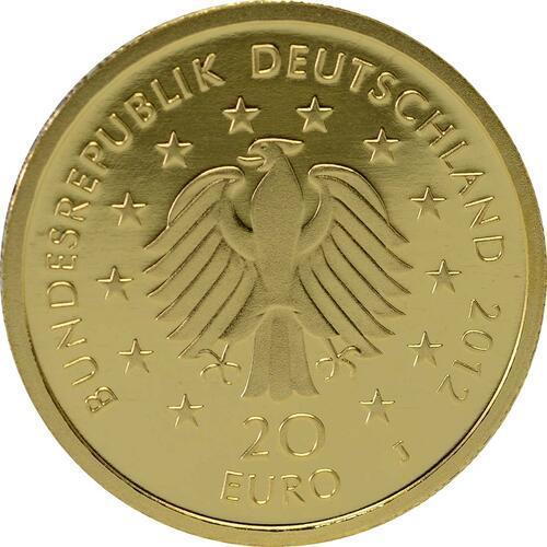 Rückseite :Deutschland : 20 Euro Fichte Komplettsatz 5 Münzen ADFGJ  2012 Stgl.