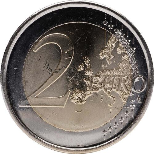 Vorderseite :Spanien : 2 Euro 10 Jahre Euro Bargeld  2012 bfr